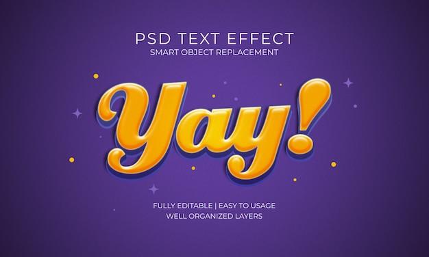 Yay! efeito do texto
