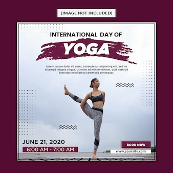 Yoga social media post template psd