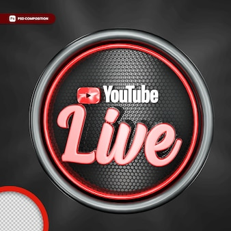 Youtuber live streaming isolado