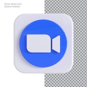 Zoom com conceito de renderização 3d syle