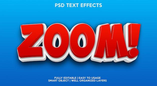 Zoom efeito de texto moderno