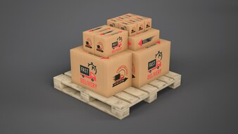 Boîtes de livraison sur palette