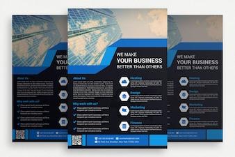 Brochure commerciale noire