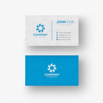 Carte bleue et blanche