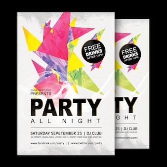 Design d'affiche de fête