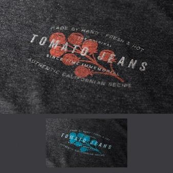 Logo en tissu maquette