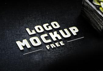Logo PSD White Business gratuit Maquette