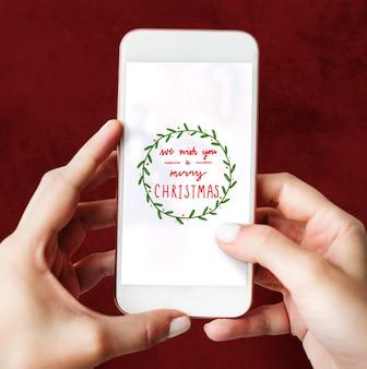 Maquette de conception de voeux de vacances de Noël