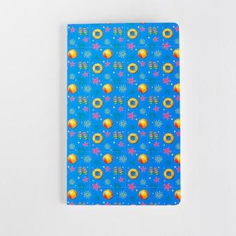 Maquette de couverture bleue