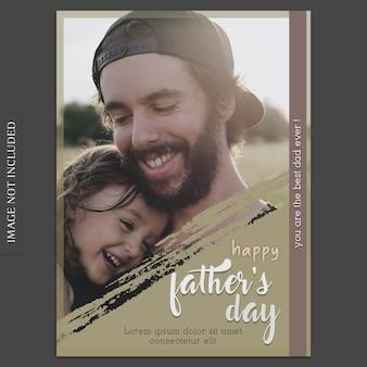 Maquette de couverture de fête des pères avec sa fille