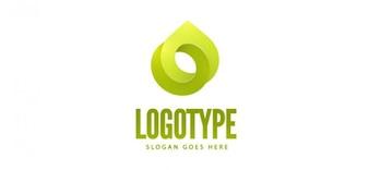 Modèle gratuit logo vert