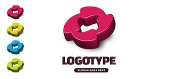 Modèle gratuit vecteur d logo