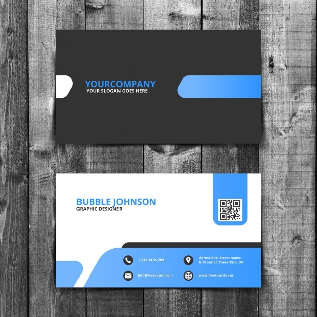 Simple Template De Carte Visite Entreprise Jpg 338x338 Psd White Design