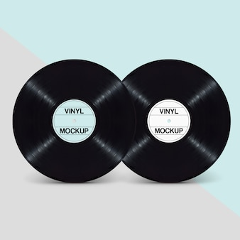 Elegante Clean Double EP LP Vinyl Record Design Mockup