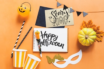 Mockup di halloween creativo