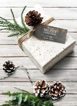 Mockup di progettazione saluto di vacanze di Natale