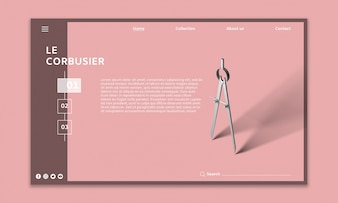 Mockup moderno sito Web