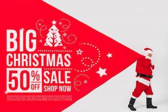 Modello di vendita di Natale con Babbo Natale