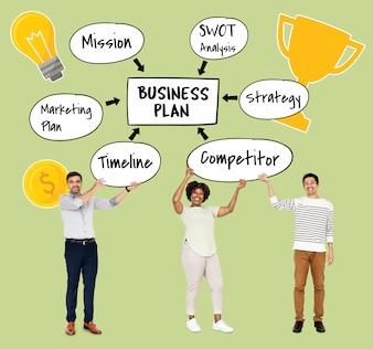 Squadra varia con un business plan