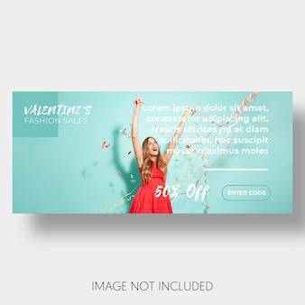 Banner Schablonenverkauf Valentinstag
