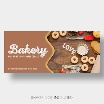Banner Vorlage Bäckerei Valentinstag