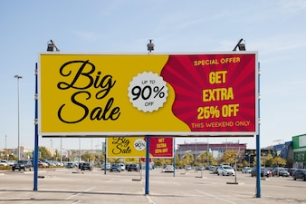 Billboard-Modell am Parkplatz