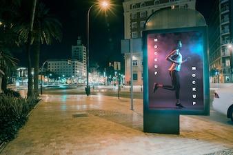 Billboard-Modell in der Nacht