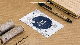 Briefpapier Karton Konzept