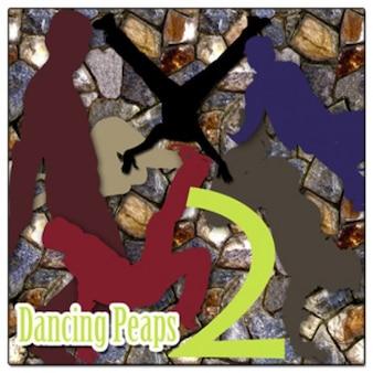 Bunte tanzenden Menschen Formen