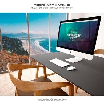 Büro imac Mockup