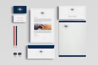 Business-Briefpapier mock up