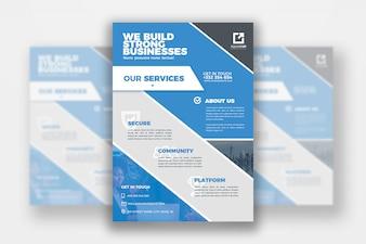 Business Flyer Druckvorlage