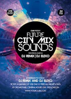 City Mix klingt Party Flyer