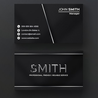 Dark metallic Visitenkarte