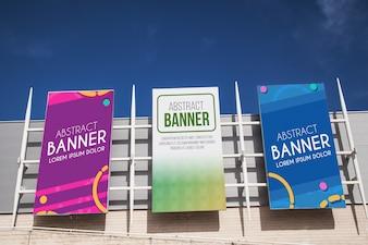Einkaufszentrum Billboard-Modell