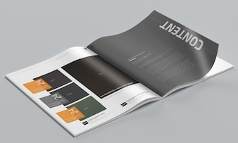 Fotorealistisches Magazin-Modell