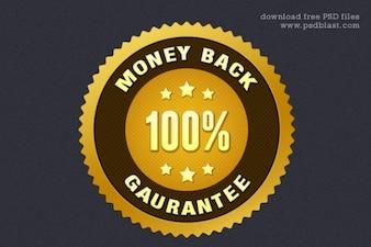 Geld-zurück-Garantie-Siegel psd