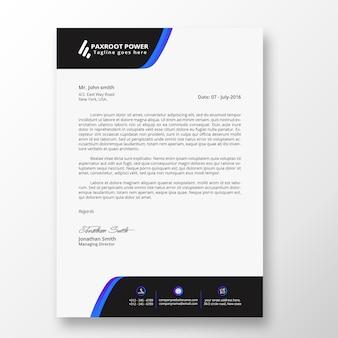 Geschäft Briefkopf Vorlage