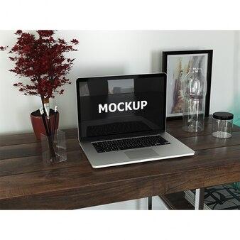 Grafikdesigner Arbeitsbereich mit Laptop