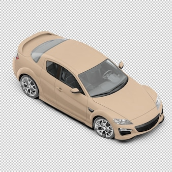 Isometrischer Sportwagen
