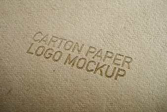 Karton-Papier-Logo-Modell