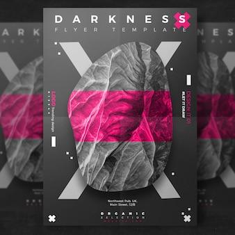 Kreativer dunkler Ereignis-Flyer