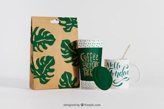 Kreatives Kaffeemodell