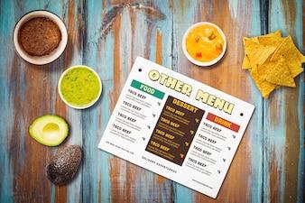 Mexikanisches Restaurant Menü Mock-up
