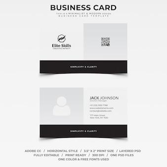 Minimalistische und moderne Visitenkarte