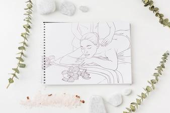 Notebook-Modell mit Spa-Konzept