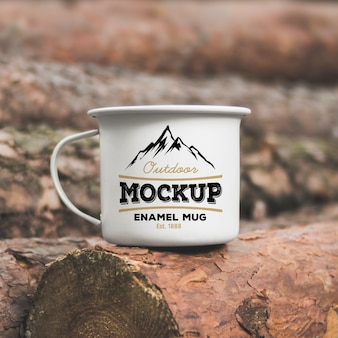 Outdoor-Abenteuer Kaffee Tee Emaille Becher Modell