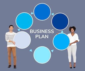 Partner mit einem GeschäftsplanPartner mit einem Geschäftsplan