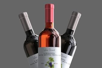 Realistisches Weinflaschenetikett