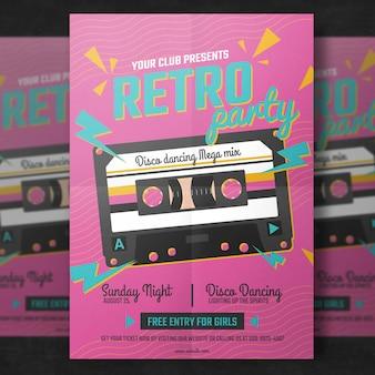 Retro Party Flyer Vorlage